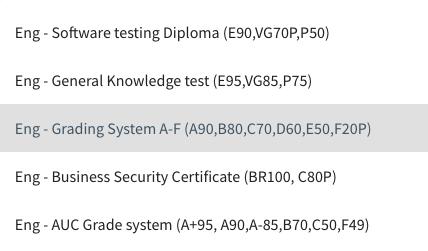 The Grade System in KlickData KLMS